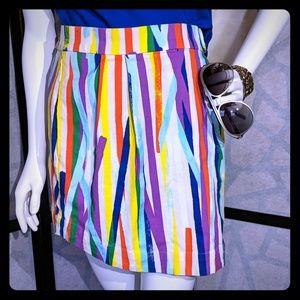 Kate Spade Saturday bright striped skirt sz 10 EUC